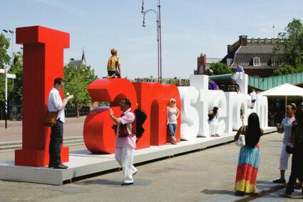 I am sterdam Schriftzug Amsterdam