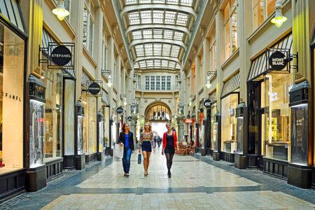 Shopping Tour in der Mädler-Passage in Leipzig