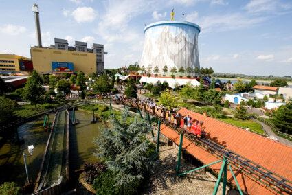 Achterbahn im Freizeitpark in Kalkar