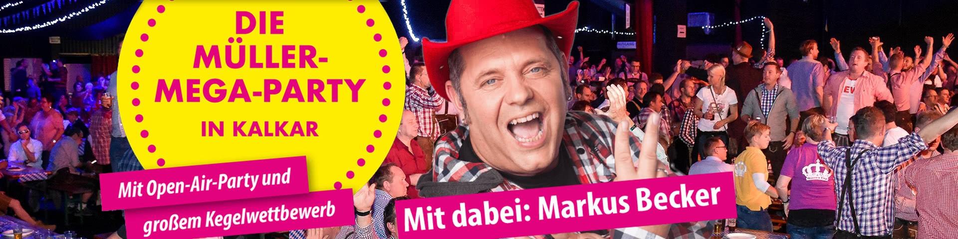 Die Müller-Mega-Party in Kalkar mit Markus Becker