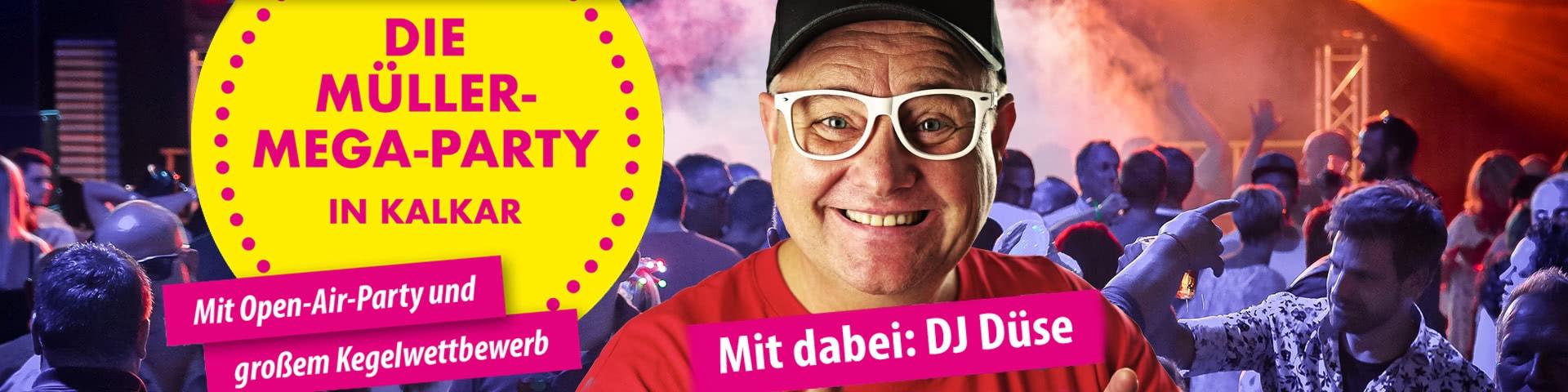 Die Müller-Mega-Party in Kalkar mit DJ Düse