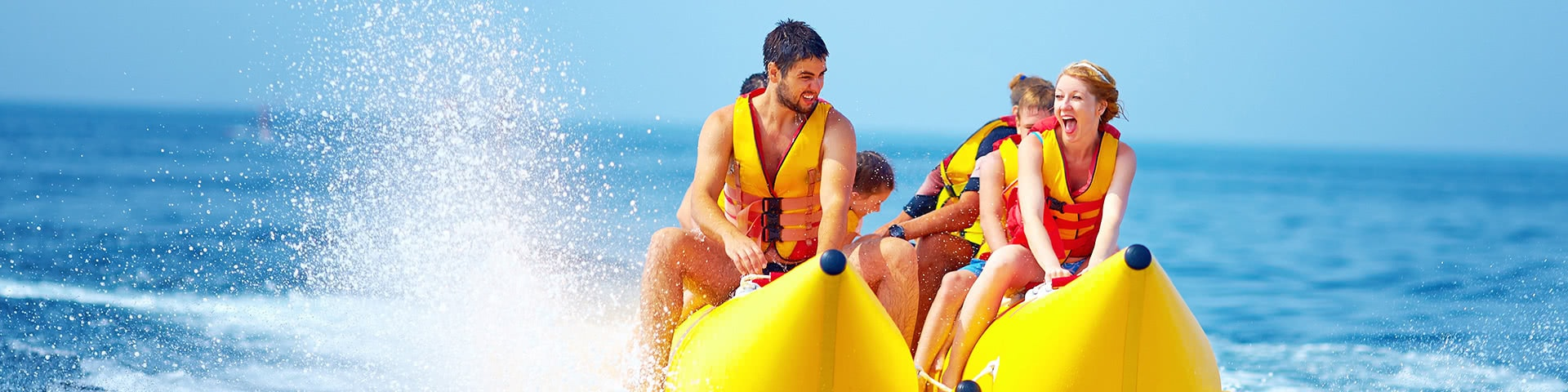 Bananenboot fahren auf Mallorca
