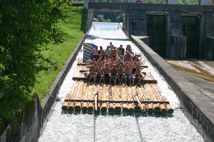 Flossfahrt in München