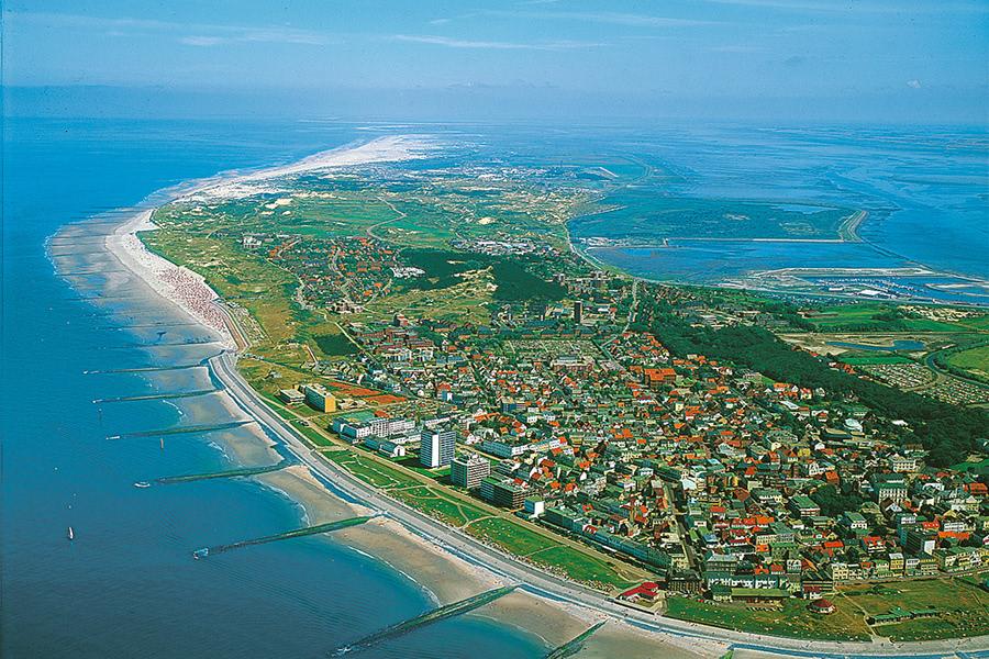 Luftansicht Insel Norderney