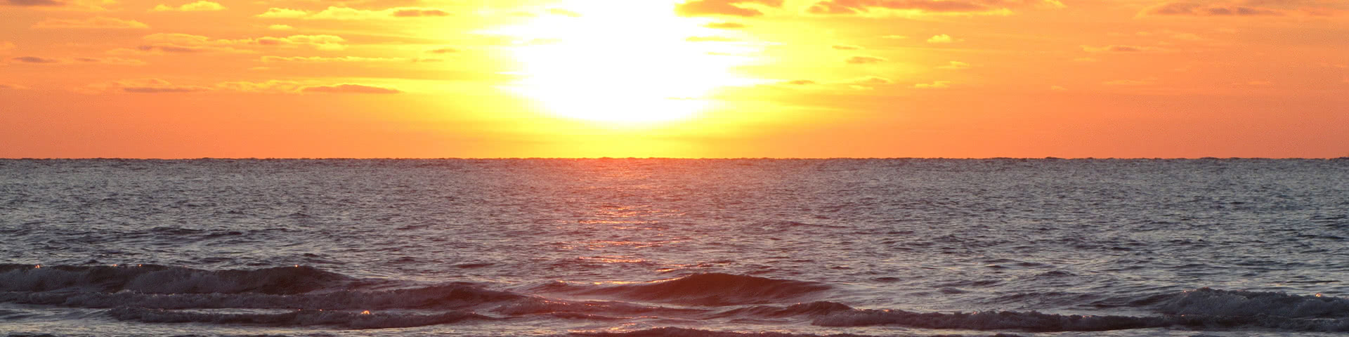Sonnenuntergang am Meer auf Norderney