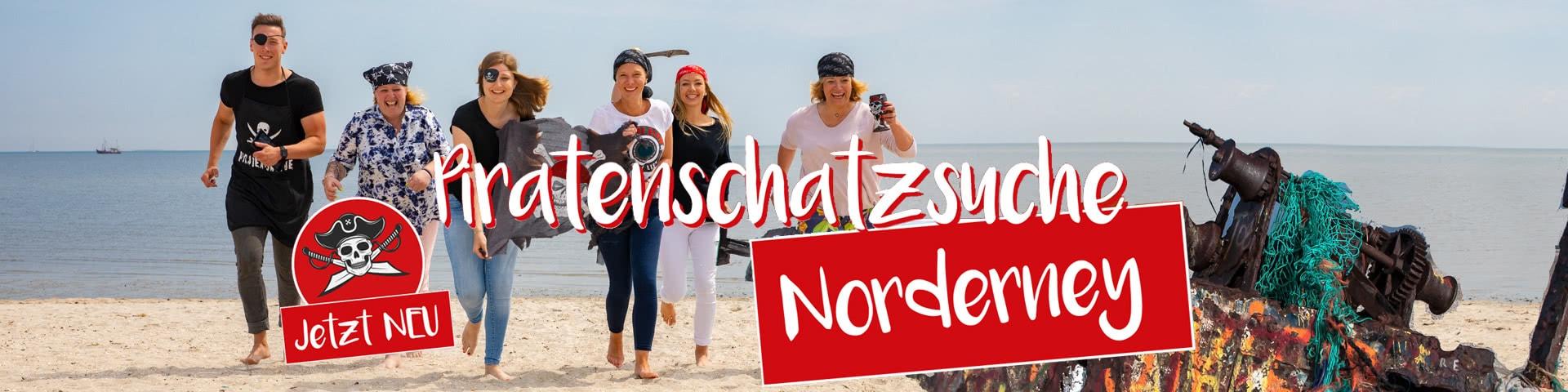 Jetzt neu - Piratenschatzsuche auf Norderney