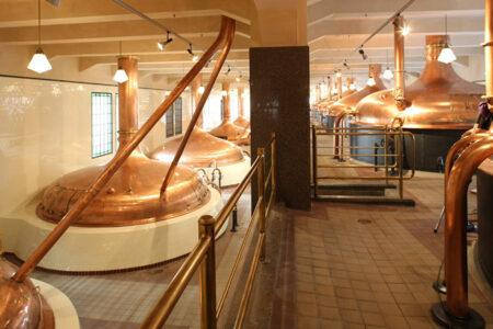 Brautank in der Pilsener Brauerei in Prag