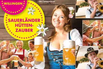 Sonderreise Willingen Sauerländer Hüttenzauber mit Eigenanreise Livemusik Bier