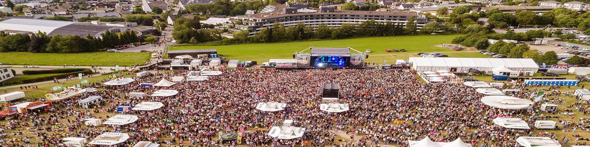 Luftbild von der Veranstaltungsfläche Viva Willingen